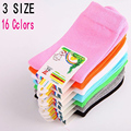 5 pairs / lot spring&autumn candy color cotton High elasticity of good quality baby socks 1-9 year children boy girs  kids socks