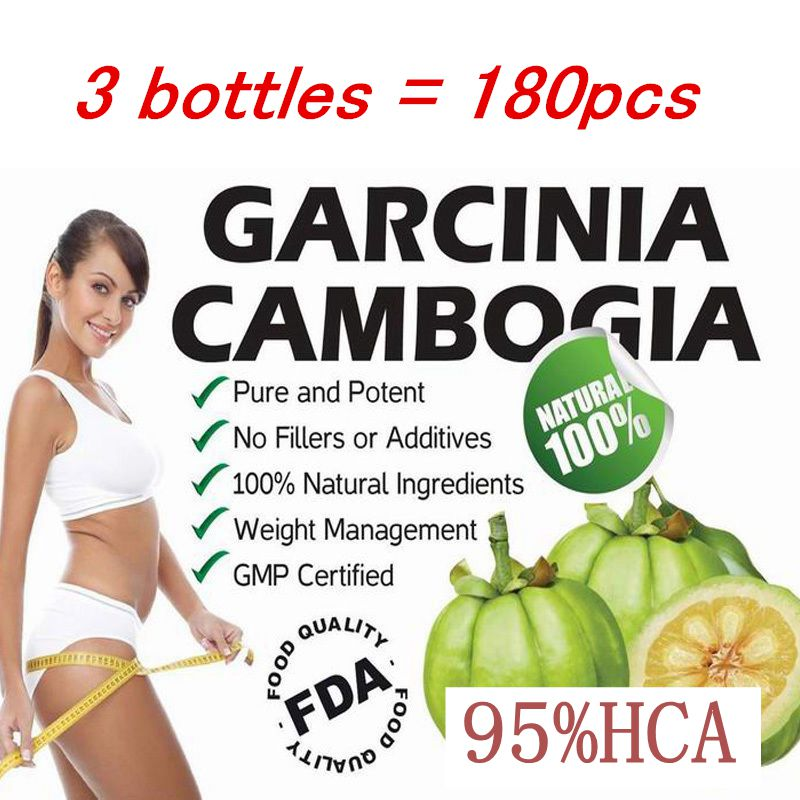 3 PACKS Pure garcinia cambogia extract 95% HCA slimming products loss weight diet product for women Quick weight loss weight lose raw material garcinia cambogia extract 60% hca hplc