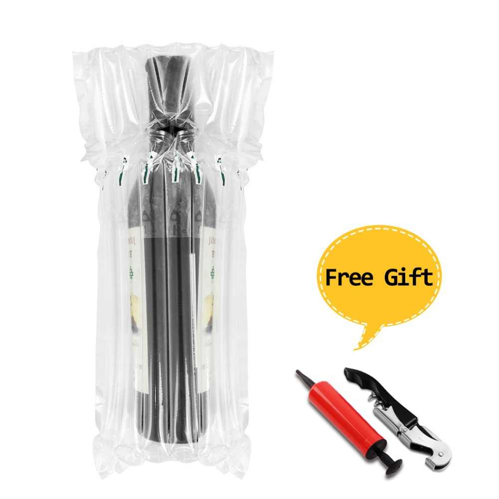 Wine Bottle Protector Gas Column Wrap Bags Sleeves Glass Travel Transport Air filled Column Leakproof Cushioning