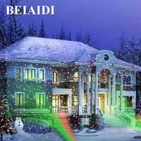 BEIAIDI Green Red Christmas Laser Light Outdoor Sky Star Laser Projector Lamp Home Garden Landscape Star