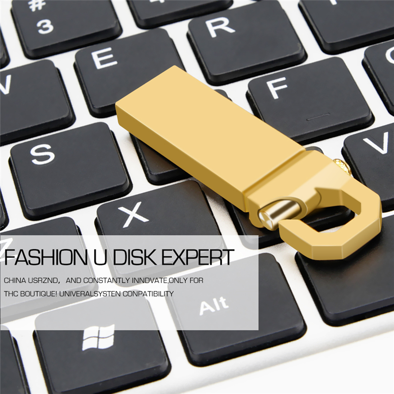 Image 5 - Crazy Hot Wholesale Usb Flash Drive Metal Pendrive 32GB 64GB 128GB 16GB 8GB 4GB Usb2.0 Memory Stick Gold Pen Drive Free Shipping-in USB Flash Drives from Computer & Office