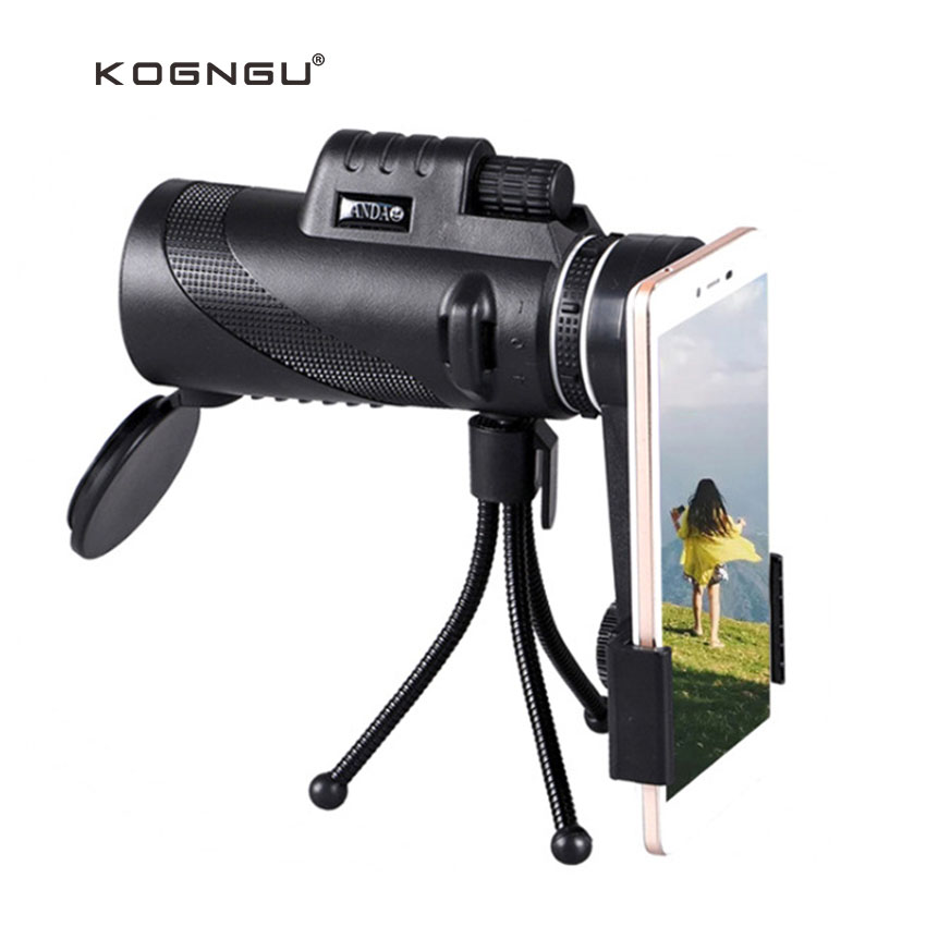 Kogngu Neue 40 Zoom Monokulare Telefon Teleskop linse 40x60 Für Iphone Huawei Xiaomi Smartphones Kamera linsen Outdoor Jagd
