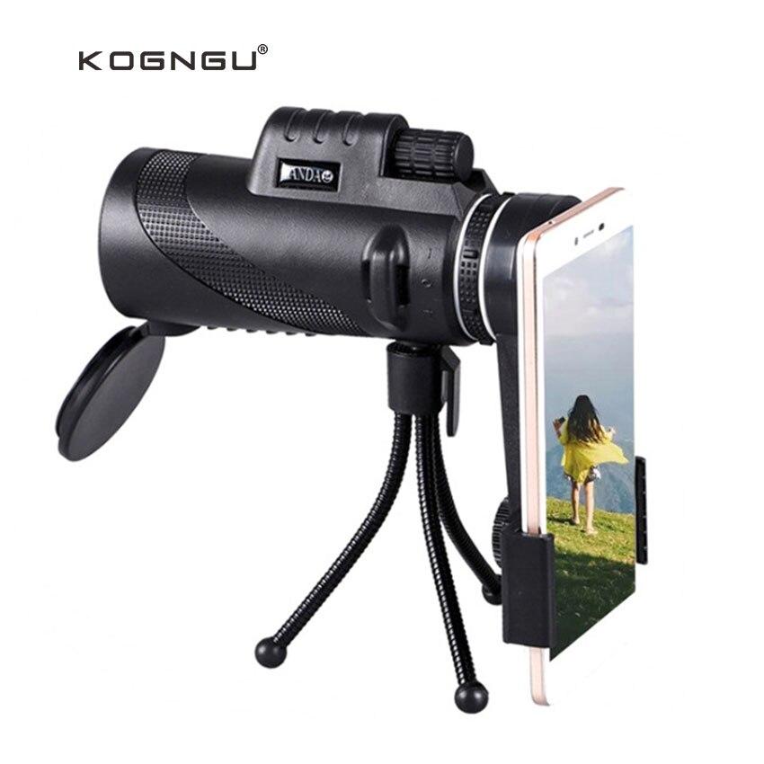Kogngu nuevo 40 Zoom Monocular telescopio teléfono lente 40x60 para Iphone Huawei Xiaomi Smartphones Cámara lentes caza al aire libre