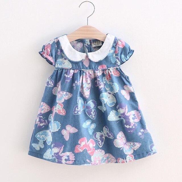 865758d89724 BibiCola 2017 Small Girls Dress Full Print girl butterfly flower ...