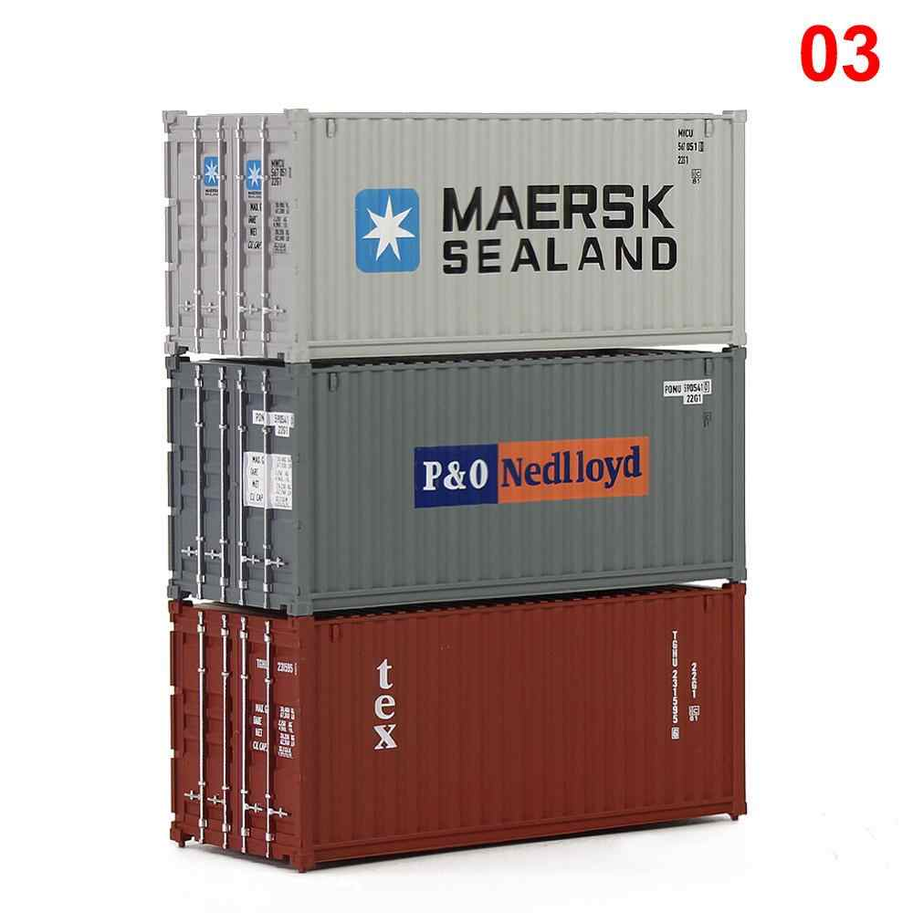 3pcs Mixed Different HO Scale 20 Foot Container 20ft Shipping Container Freight Car Wagon C8726 MAERSK SEALAND P&O Nedlloyd tex