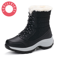 Plus Size Women Snow Boots High Quality Winter Warm Boots Thick Bottom Platform Waterproof Ankle Boots