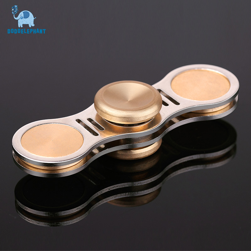 DODOELEPHANT TL-3 Hand Spinner Finger Spinner Alloy+brass Metal Fidget Spinner For Autism Kids/Adult Anti Stress Focused Toys