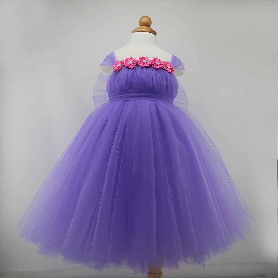 Romantic Violet Baby Girl Birthday Tutu Dress Baby Girls