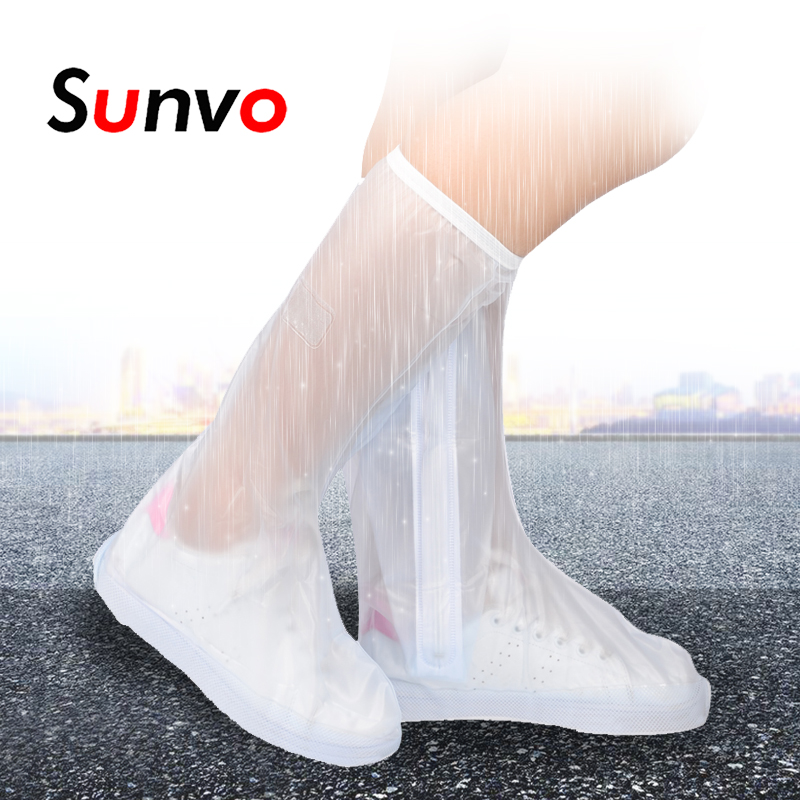 Sunvo Long Shoe Cover For Men Women Rain Boot Covers Waterproof Reusable Shoes Protector High-top Anti-slip Overshoes Accessorie Consumers First
