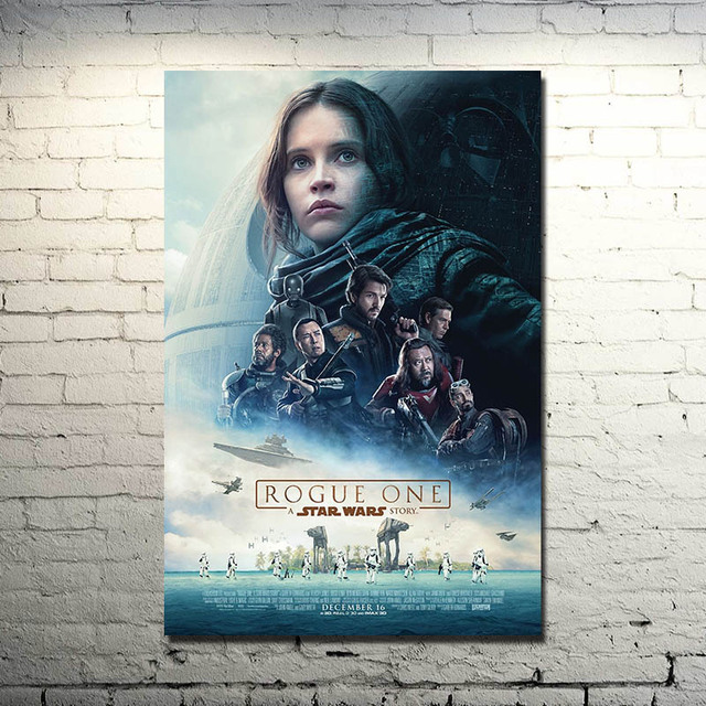 Rogue One A Star Wars Story 2016 Art Silk Fabric Poster Canvas Print 13×20 24×36