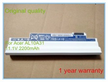 25wh 11.1V AL10A31 laptop battery for AL10A31 for Aspire One D255 D257 Battery 11.1V 25Wh 2200mAh
