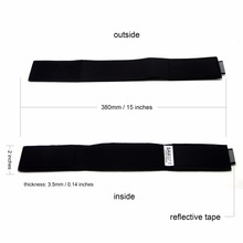 SAMSFX Reflective Neoprene Ankle Pant Garters Blousing Garter for Fishing Waders Boot Fly Fishing Riding One Pair (2-Pack)