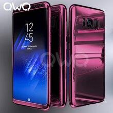 c4f52fea1cd Fundas de espejo chapado de 360 grados para Samsung Galaxy S9 S8 S10 Plus  S7 Edge protector completo para Samsung Note 9 8 caso