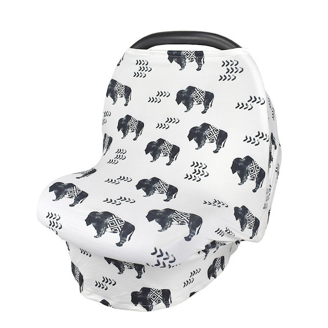 Multifunction Stretchy Baby Car Seat Cover Nursing Breastfeeding Shopping Cart Grocery Trolley Covers Carseat