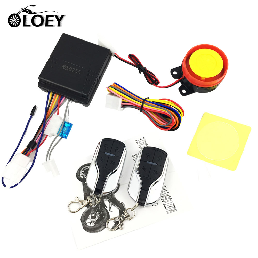 12v Motorcycle Alarm Anti-theft Scooter Protection Burglar Security System Remote Control Engine Start Universal Motor Chopper