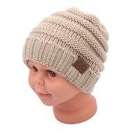 2017 г. детские модные теплые сетки шапка колпак зима хаки вязаная шерстяная шапка унисекс шапка