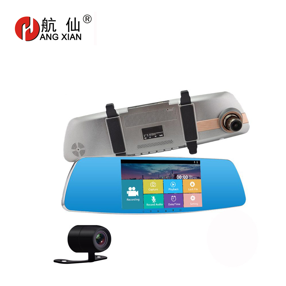 цена на Full HD 1080P 170 Degree 848*480 5 Inch IPS LCD Screen Car DVR Video Recorder Parking Rear View Rearview Mirror Monitor Camera