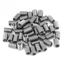 50pcs M6 x 1.0  Length Screw Thread Inserts Stainless Steel SS304 Coiled Wire Helical Repairing Tools