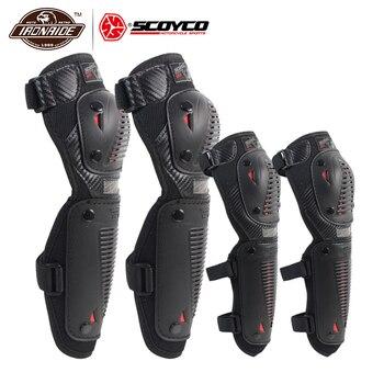 c9ad9c7db2f SCOYCO de la motocicleta rodilleras Protector de codo de Motocross en  carreras Protector de la rodilla guardia al aire libre equipo de protección  Accesorios