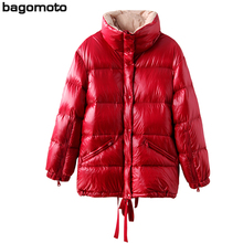 Bagomoto Winter Jacket Women 2018 High Quality Stand Waterproof Winter Coats Female Parka Warm Thicken  Down Jacket Outwear