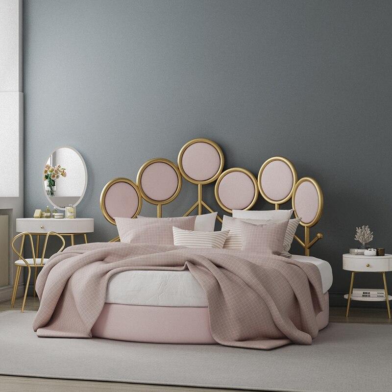 Wohnmöbel Pround Bett Einfache Moderne Stoff Doppelbett Designer Licht Luxus Net Rot Nordic Schlafzimmer Hochzeit Bett Gut FüR Antipyretika Und Hals-Schnuller