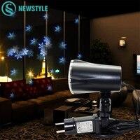 4 W Mery Kerstverlichting Outdoor LED Sneeuwvlok Projector Licht Gazon Lamp IP65 Waterdicht Lasers Halloween Kerstversiering