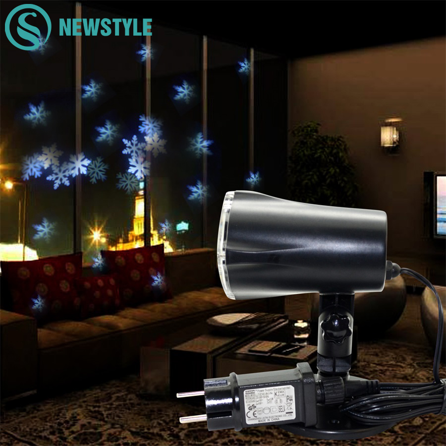4W Mery Christmas Lights Outdoor LED Snowflake Projector Light Lawn Lamp IP65 Waterproof Lasers Halloween Christmas Decoration
