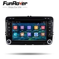 Funrover 7 Indash Car Stereo 2Din Navigation GPS Car DVD Player Head Unit Audio Car For VW radio multimedia audio RDS navi wifi