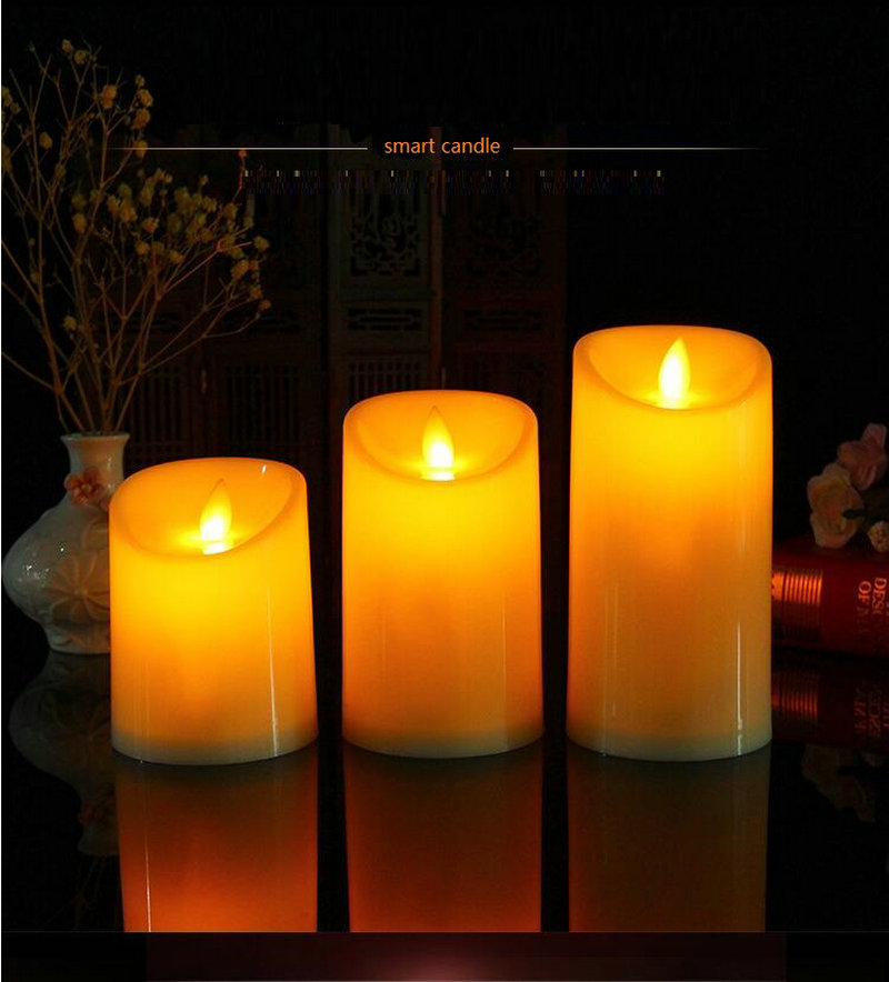LED Electronic Candle Flicker Light Festival Decoration Christmas Candle Simulation Flame Flashing Lamps Romantic Night Light