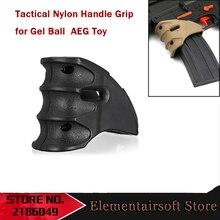 Элемент для AEG тактическая черная нейлоновая Передняя ручка гелевый шар бластеры водная игрушка в виде бомбы ручка наружная шутер спортивная детская игровая игрушка