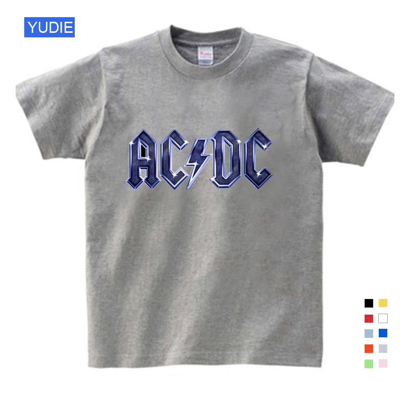 ACDC Kids T Shirt Children ACDC Rock Design T Shirt Boys and Girls Short Sleeves Casual Tee Unisex Kids Tops Baby Clothing YUDIE in T Shirts from Mother Kids