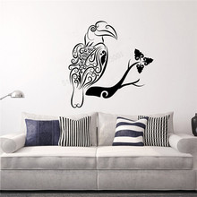 Wall Decoration Africa Parrot Bird Room Decorative Tribal Animal Poster Vinyl Art Removeable Room Sticker Modern Decal LY346 sweet bird cage pattern removeable waterproof decorative wall sticker
