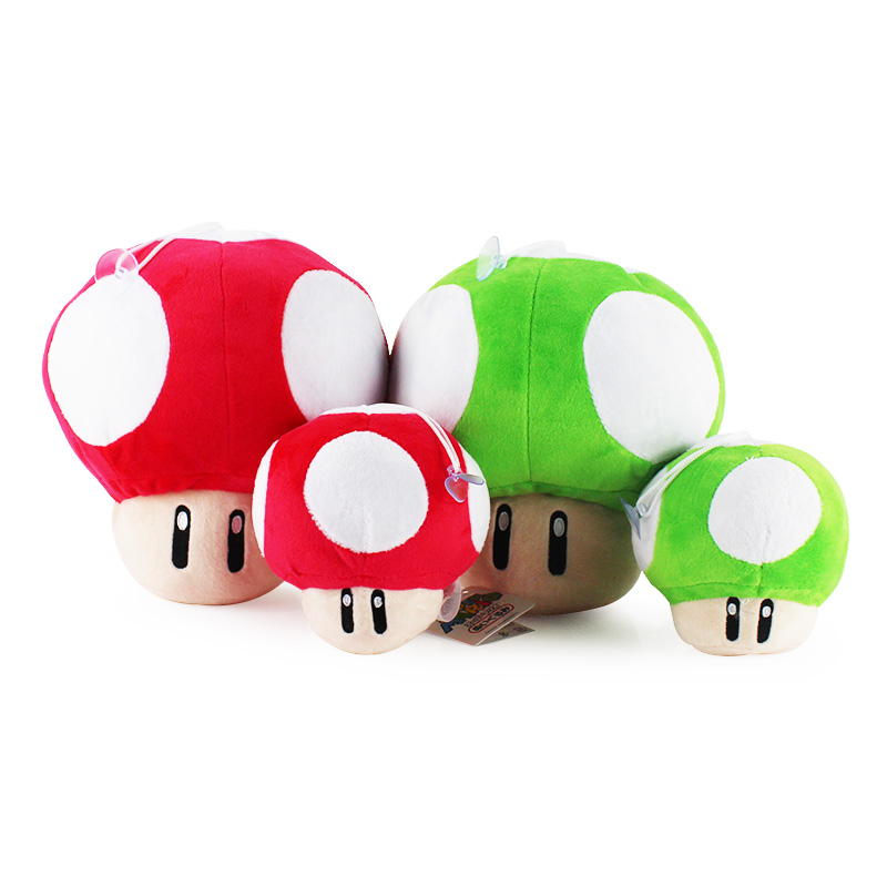 2 Styles selectable Super Mario Toad Mushroom Stuffed Plush key chains pendant Toys Soft Ornaments With