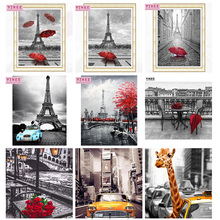 diamond painting, full square,paris,black and white,5d,diy,cross stitch, mosaic,5d diy,diamond embroidery landscape