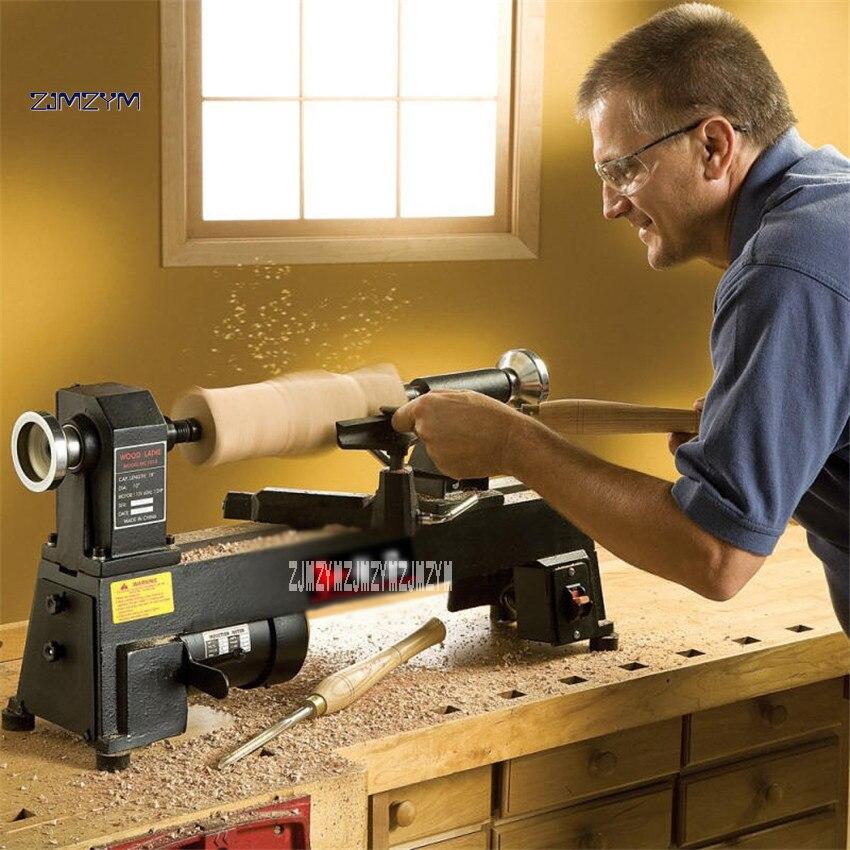 Высокое качество бытовой токарный мини станок DIY дерево Будды бисер деревянная чаша инструмент токарный станок, деревообработка 220 В 550 Вт