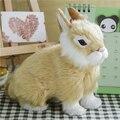 Пасхальный Кролик Моделирование Пушистый Корточках Кролик Рождество Подарок На День Рождения Главная Свадебные Украшения