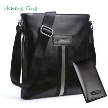 Fashion Men Bags Leather Business Travel Messenger Bag Brand Design Men's Shoulder Bag 2 colors