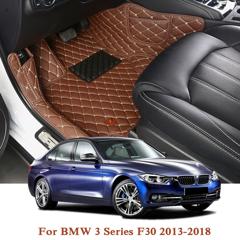 Car Styling For BMW 3 Series F30 F10 5Series X3 F25 LHD 5Seat Car Floor Mats Rugs Auto Leather Foot Mat Pad Interior Accessories