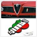 2015 Para Alfa Romeo delta verde Side Fender Emblema de la Insignia para 147 156 166 159 Giulietta Spider Giulia GT