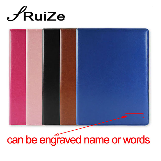Ruize multifunction pasta de arquivo de escritório a4 pasta de couro padfolio organizador contrato assinar pasta com calculadora e bloco de notas