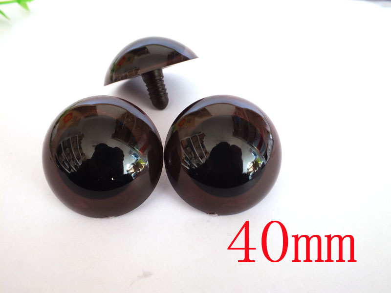 30pcs 40mm Safety Eyes Brown Large Size Safety Eyes DIY Craft Bear Doll Animal Puppet Toy Doll Accessories