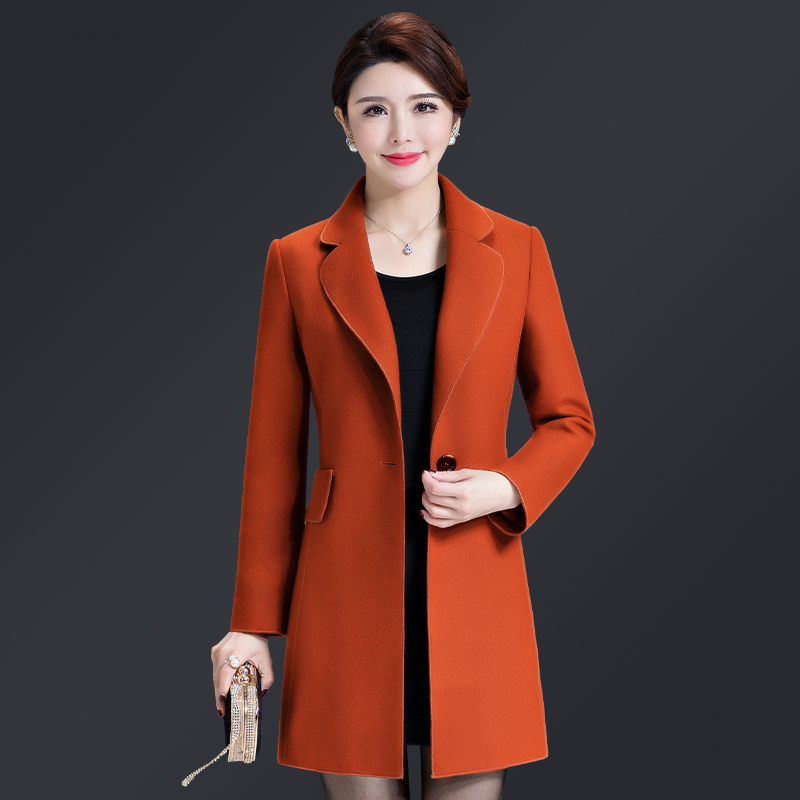 2017 High Quality Free Shipping New Autumn Winter Long Coat Female Wool Aged Mother Fashion Women Work Wear Plus Size Slim high quality 2017 free shipping new autumn winter down jacket female cotton women work wear fashion coats black gray green page 9