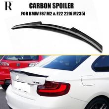 F22 M4 Style Carbon Fiber Rear Trunk Boot Lip Wing Spoiler for BMW F87 M2 F22 F23 220i 228i M235i 2014 2015 2016