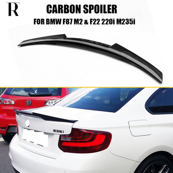 цена на F87 M2 Carbon Fiber Rear Trunk Wing Spoiler for BMW F87 F22 220i 228i M235i 2014 UP M4 Style Rear Lip Wing Boot Spoiler