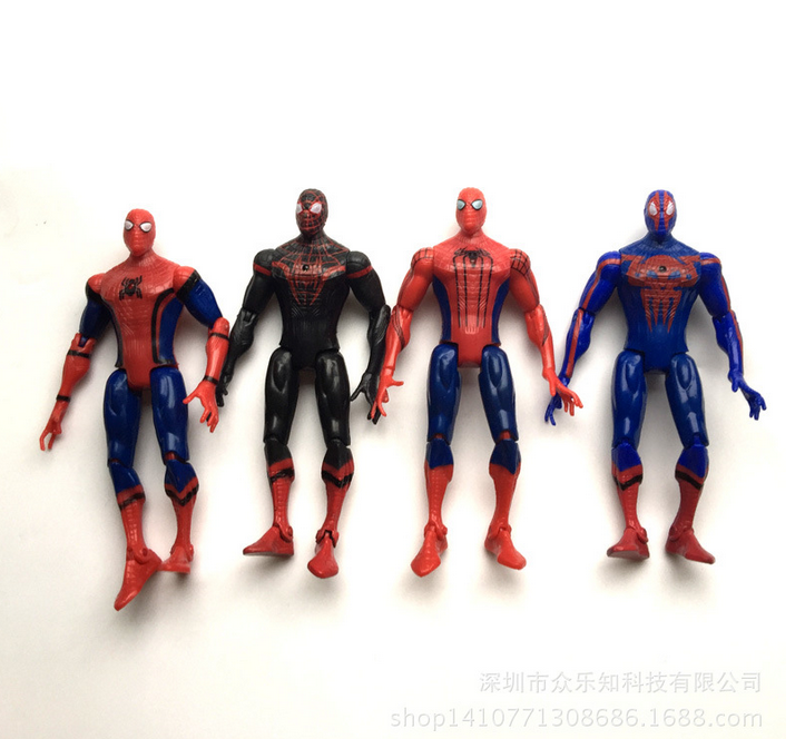 Spider-Man:Homecoming The Amazing Spiderman PVC Action Figures Toys Gifts for Boy 4pcs/set 15cm 336