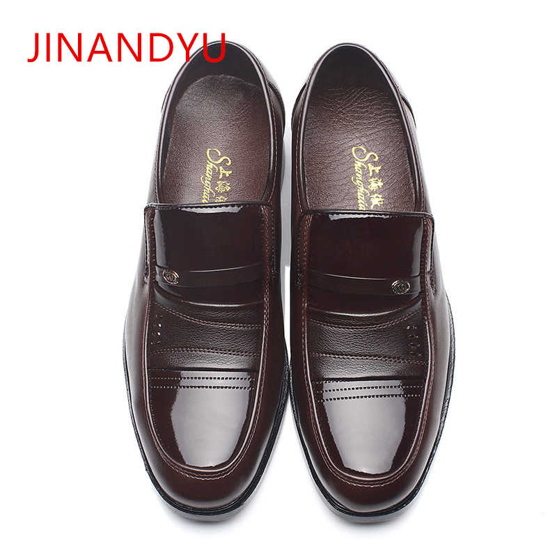 Italian Brand Leather Mens Formal Shoes Men Classic Oxford Shoes for Men Leather Dress Shoes Men Loafers Black & Brown