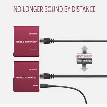 MT-VIKI USB 2.0 Extender 100M High Quality USB to CAT RJ45 LAN UTP kabel Extendion USB Repeater with Power MT-450FT