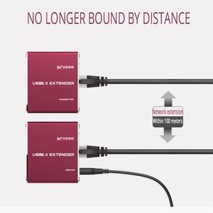 Image 3 - MT VIKI USB di alta qualità dellestensore 100M di USB2.0 al ripetitore di USB di estensione di kabel di UTP della LAN RJ45 con MT 450FT di potere
