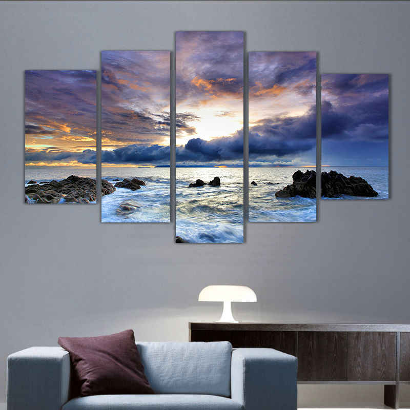 Modern Living Room Bedroom Wall Decor Home Decor Ocean Seascape Wall Art Picture Print Painting On Canvas Printed Art Pt0204 Paintings On Canvas Art Pictureswall Art Picture Aliexpress