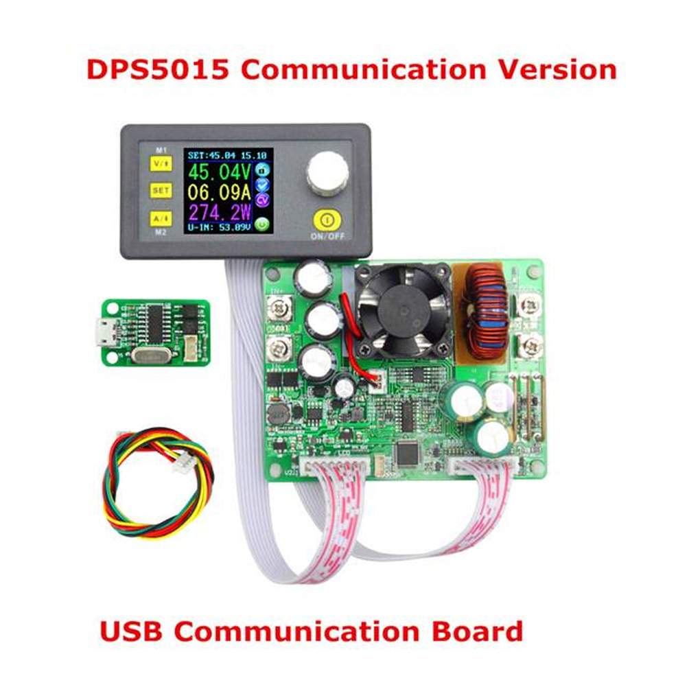 DPS5015 USB Communication 50V 15A Constant Voltage Current Step-down Power Supply Module Buck Voltage Converter LCD Voltmeter dps5020 constant voltage current step down communication digital power supply buck voltage converter lcd voltmeter 50v 20a